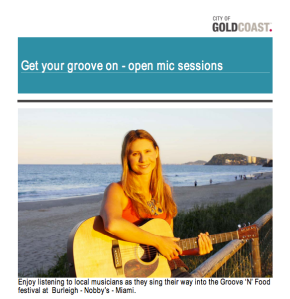 Get Your Groove On Open Mic Sessions Burleigh Heads and Nobbys