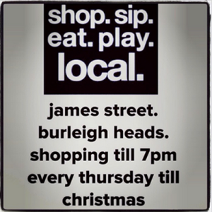 Christmas late night shopping Burleigh Heads
